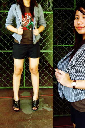 blazer - Guess shorts - Parisian shoes