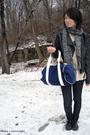 Black-jacket-blue-jeans-blue-accessories-gray-scarf-beige-shirt-gray-s