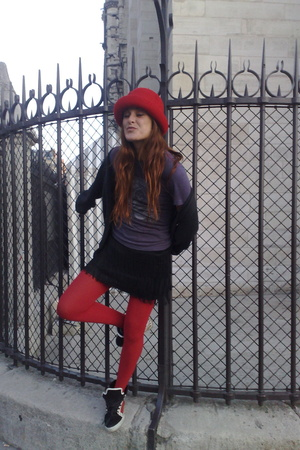 hat - ruca t-shirt - Mango skirt - supra shoes - Gap jacket