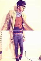 Jones New York coat - Aldo shoes - polka dots calvin klein shirt - H&M top