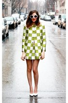 Louis Vuitton dress - Pollini glasses
