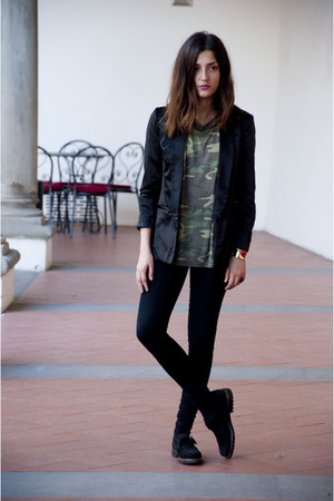 forest green skinny DrDenim leggings