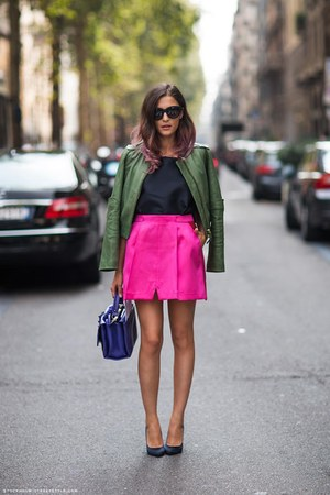 hot pink ss13 Co  Te skirt - olive green Peuterey collab Co  Te jacket