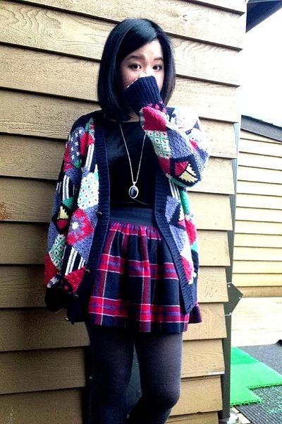 navy sweater - black velvet joes fresh top