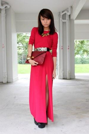 From local online boutique dress - Snakeskin Clutch bag - Jeffrey Campbell heels