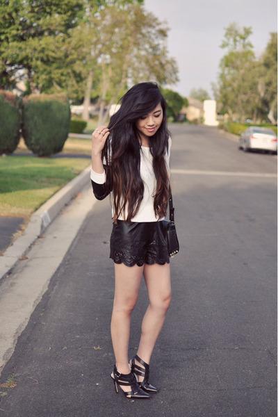 black shoemint shoes - black LuLus shorts