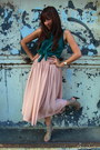 Light-pink-forever-21-skirt-teal-papaya-top-tan-forever-21-heels