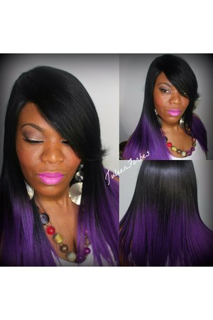purple milky way hair accessory