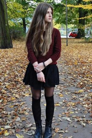 H&M skirt - Din Sko boots - H&M jumper