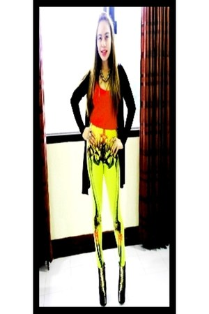 yellow bone fortress s dare to wear leggings - black DAS boots