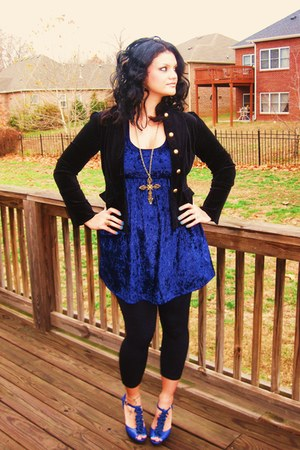 blazer - Forever 21 dress - Madden Girl shoes