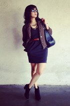 black billie bootie madewell boots - black Urban Outfitters dress