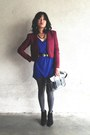 Blue-dress-urban-outfitters-shirt-black-billie-bootie-madewell-boots