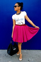 circle American Apparel skirt - Urban Outfitters shoes - hobo Gucci bag