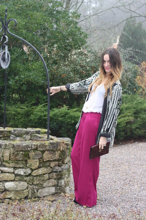 new look pants - thrifted bag - house of harlow necklace