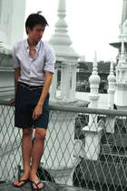 Club Monaco shirt - JCrew belt - Club Monaco shorts - shoes
