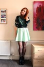Black-cut-out-miss-selfridge-boots-aquamarine-waffle-primark-dress