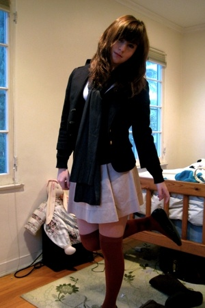 Forever21 t-shirt - H&amp;M - Forever21 blazer - Old Navy skirt - American Apparel -