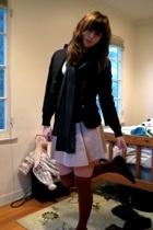 Forever21 t-shirt - H&M - Forever21 blazer - Old Navy skirt - American Apparel -
