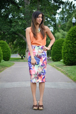 carrot orange Forever 21 skirt