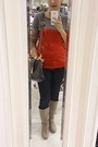 Camel-boots-red-colorblocking-sweater