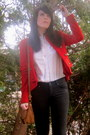 Black-jacob-jeans-ruby-red-military-unknown-jacket-white-button-up-h-m-shirt