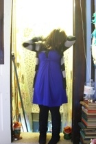 delias sweater - forever 21 dress - Maurices tights - shoe dept boots