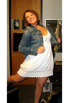 white ONeill dress - blue Charlotte Russe jacket