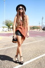 Forever-21-hat-leather-urban-outfitters-shorts-h-m-sunglasses
