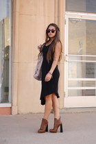 anabela Alexander Wang boots - Forever 21 dress - Diesel bag