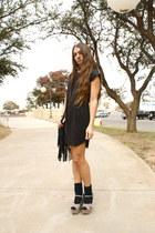 suede H&M dress - suede Steve Madden wedges