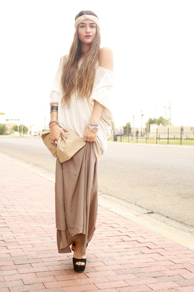 maxi skirt Forever 21 skirt - oversized sweater