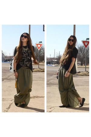maxi green Zara skirt