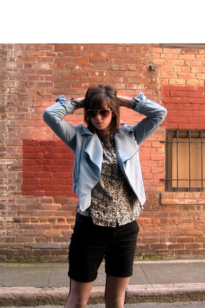 blue by corpus on super sale jacket - black delias shorts - white JCrew blouse -