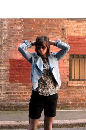 blue by corpus on super sale jacket - black delias shorts - white JCrew blouse -