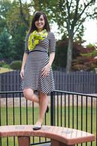 tan stripes monteau dress - yellow zebra Happy Scarf scarf