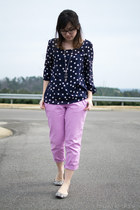 navy Peaches N Cream shirt - light purple Old Navy pants