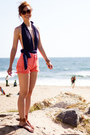 Levis-shorts-h-m-sunglasses-sam-edelman-sandals-asos-swimwear