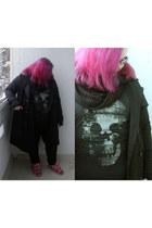 skull lindex top - skinny lindex jeans - long-ish H&M jacket