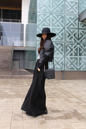 H&M hat - H&M jacket - karen millen sweater - Furla bag