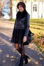 Dark-gray-new-yorker-jacket-black-leather-bag-black-sh-h-m-skirt