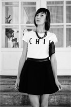 black Mohito skirt - white Sinsay t-shirt