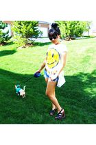 delias shirt - frm kmart shoes - American Eagle shorts - thrifted purse - boyfri