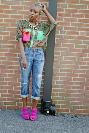 Forever 21 jeans - Gap bag - Jessica Simpson sandals
