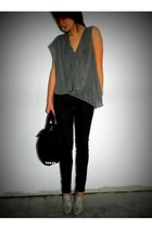 Alexander Wang blouse - Armani Exchange leggings - Alexander Wang bag