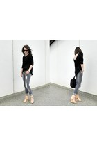 Zara jeans - Alexander Wang bag - Ray Ban sunglasses - Zara wedges - Zara top
