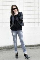Zara jeans - Bebe jacket - River Island heels