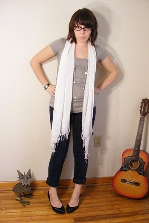 ENR shirt - Wet Seal scarf - Wet Seal necklace - Hot Topic jeans - Target shoes