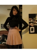 forever 21 skirt - forever 21 top - Betsey Johnson tights