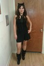 Black-faux-fur-rue-21-etc-boots-black-mossimo-dress